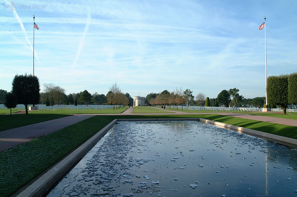 Reflecting pool of the Omaha cemetery