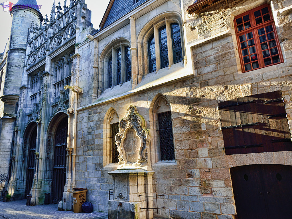 Street leading to the Archbishop's palace from the Rouen cathedral