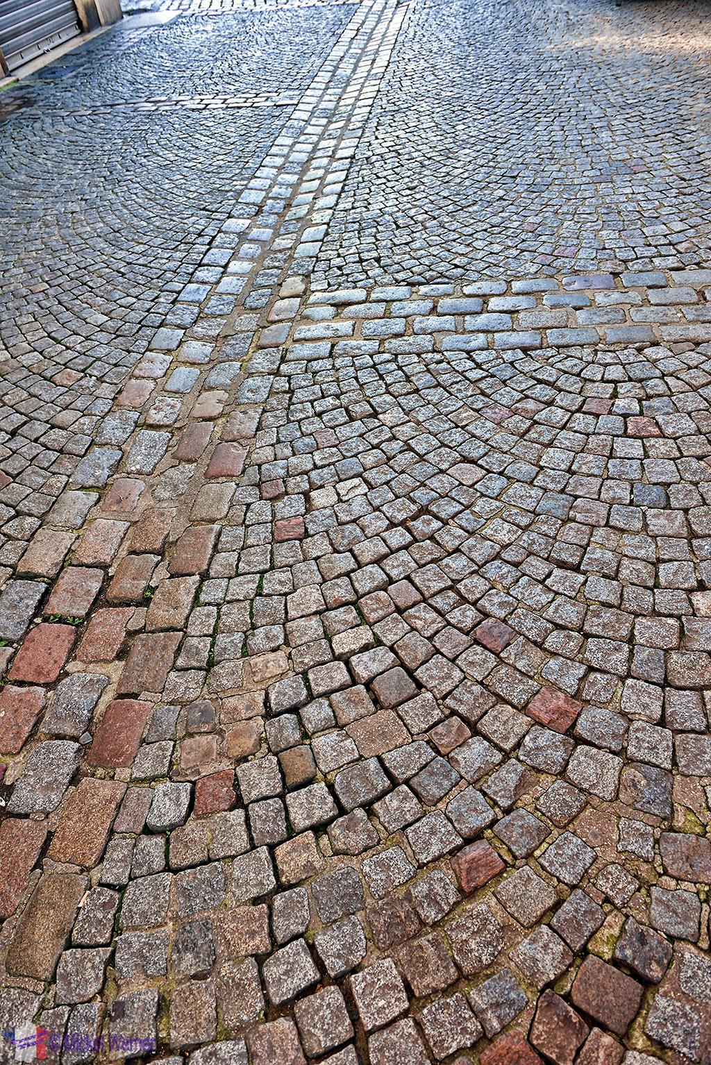 Cobblestone streets in Rouen