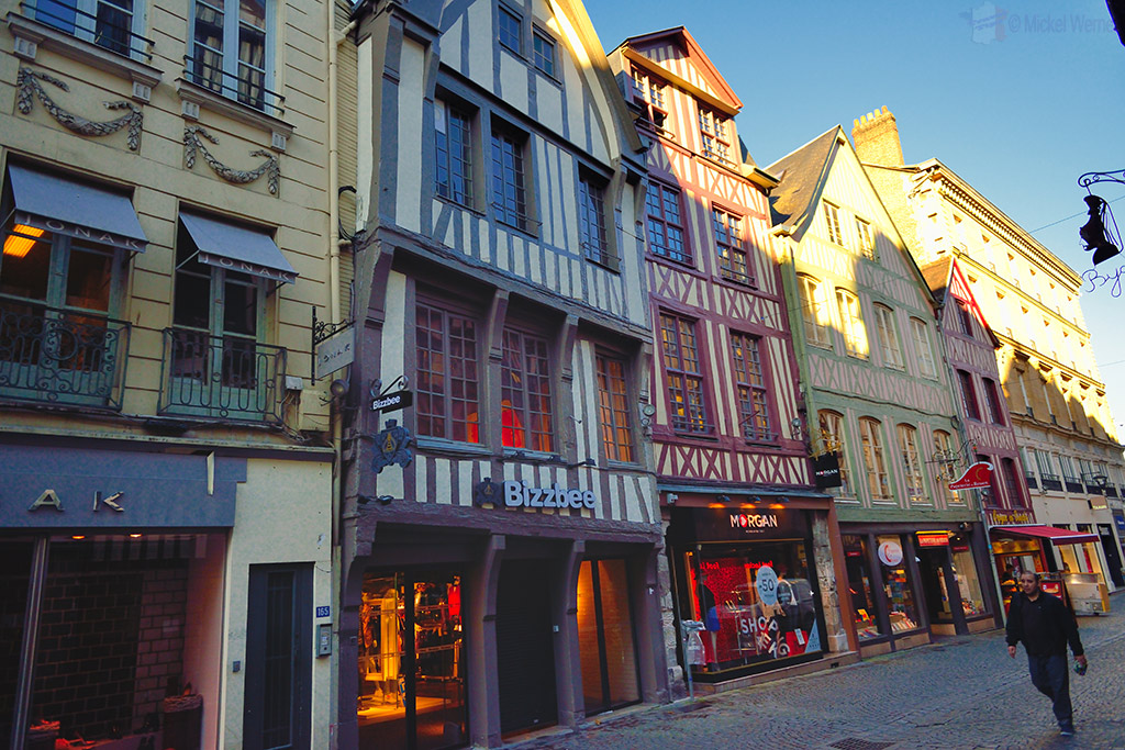 Old house and shops in Rouen