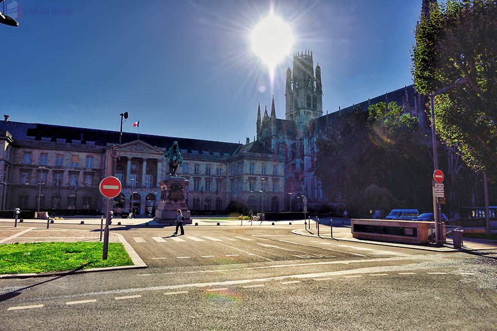 Rouen's City Hall and Saint-Ouen Abbey