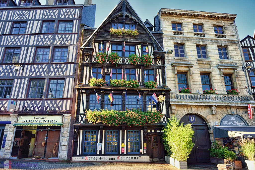 La Couronne restaurant (and hotel), France's oldest inn.'