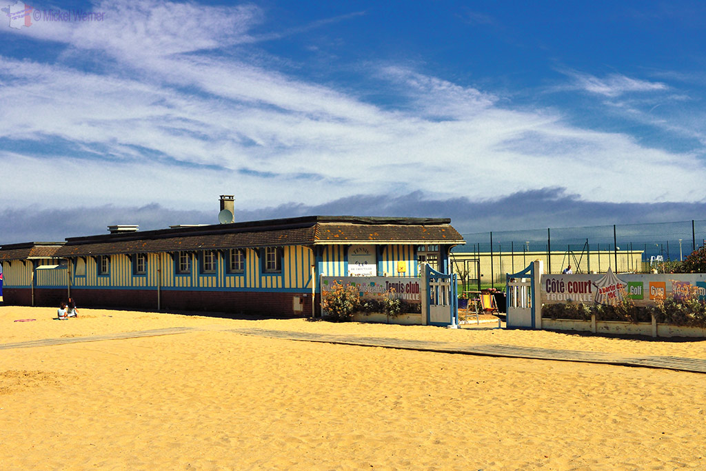 Tennis club on the beach of Trouville-sur-Mer