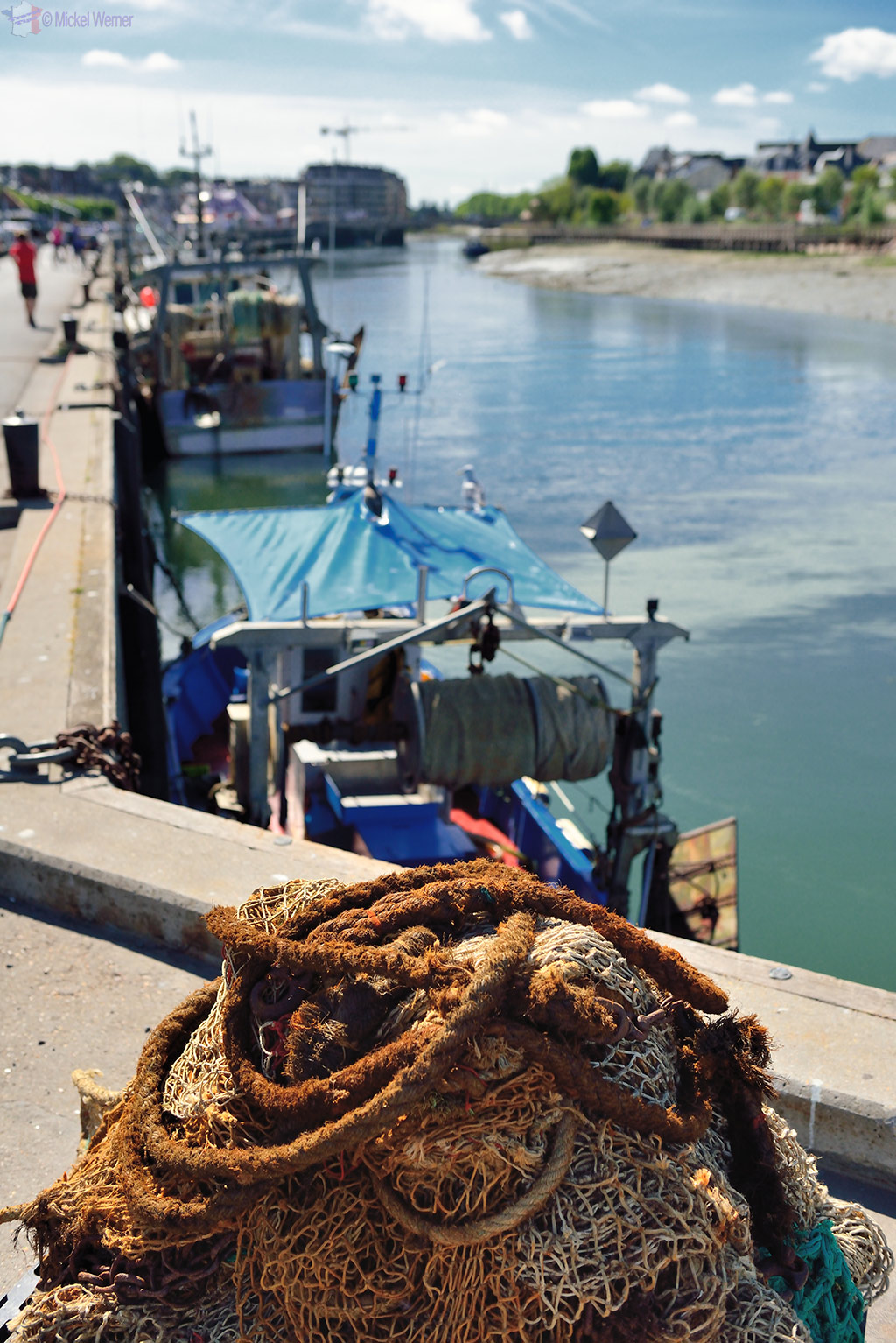 Fishing nets at the Trouville-sur-Mer harbour