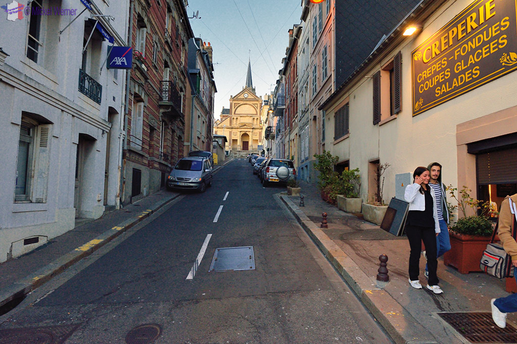 Uphill is the town of Trouville-sur-Mer