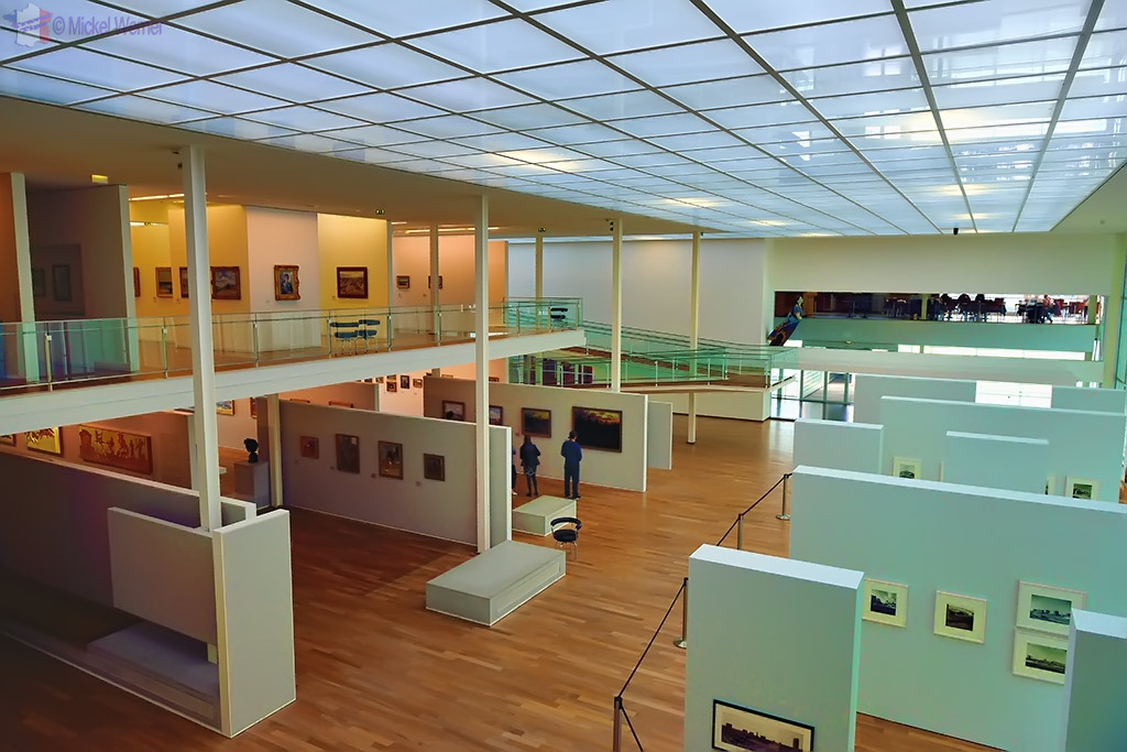 View over the 1st floor of the Andre Malraux museum at Le Havre
