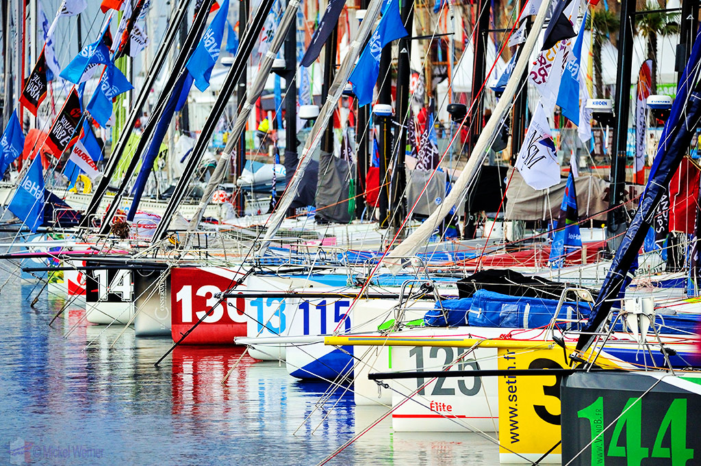 Transat Jacques Vabre sailboat race starting in Le Havre