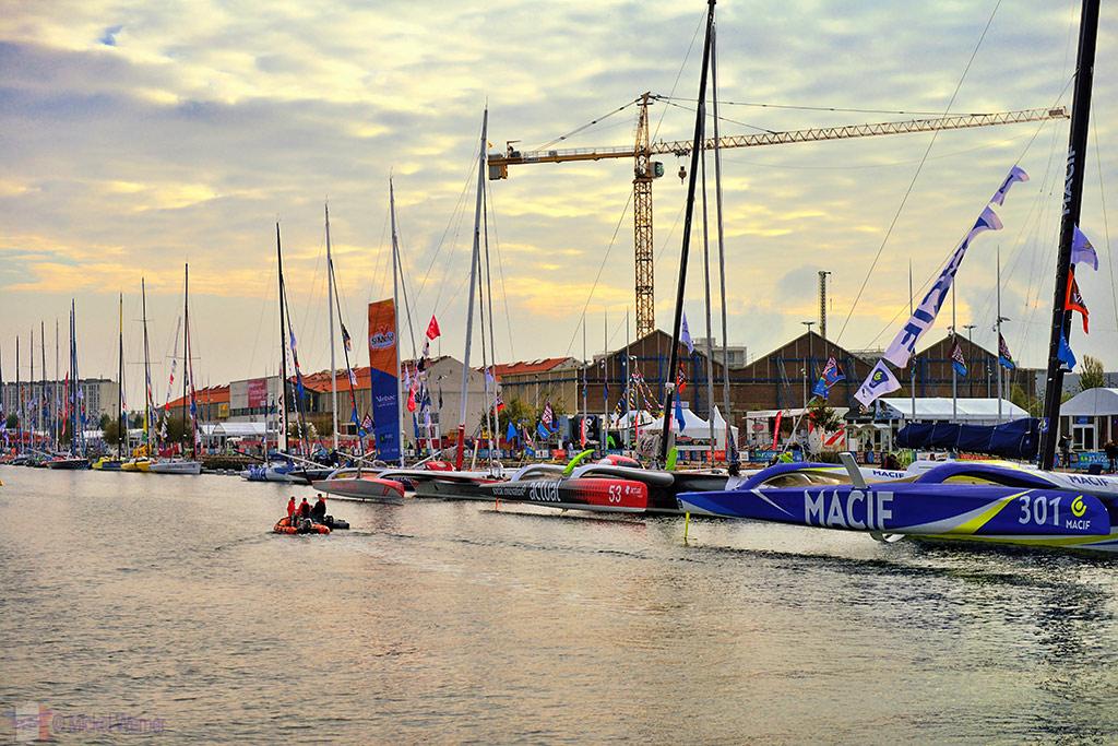 Transat Jacques Vabre sailboat at the Le Havre docks
