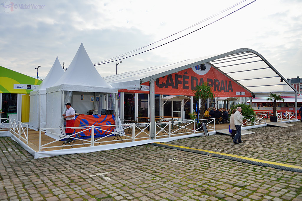 Hospitality tents at the Transat Jacques Vabre at the Le Havre docks