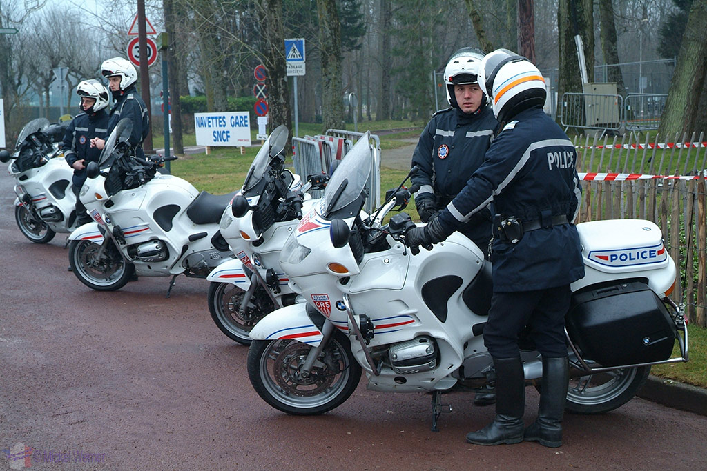 Police at Le Touquet Enduropale