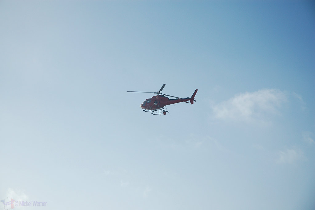 TV helicopter at Le Touquet Enduropale