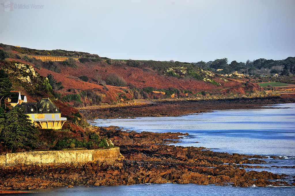View on the coastal hiking path of Perros-Guirec