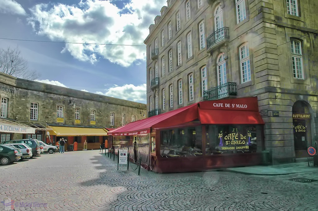 Restaurants of St. Malo, inside the walled city