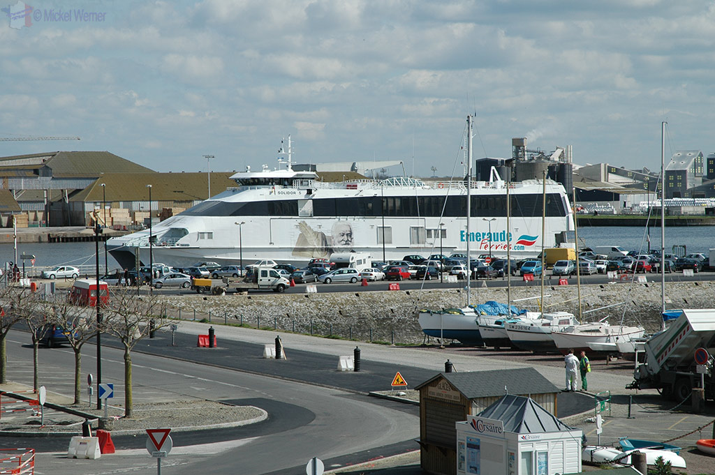 Ferry in the harbour of St. Malo
