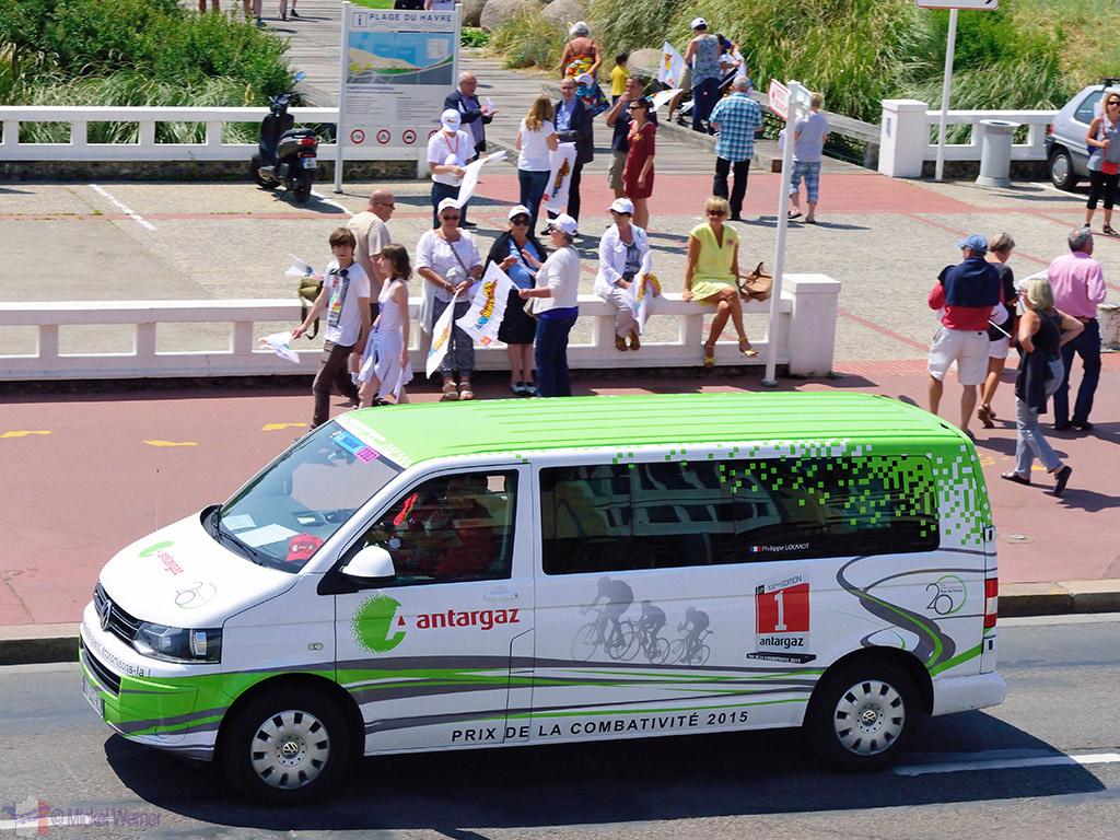 Sponsor/VIP vans at the Tour de France