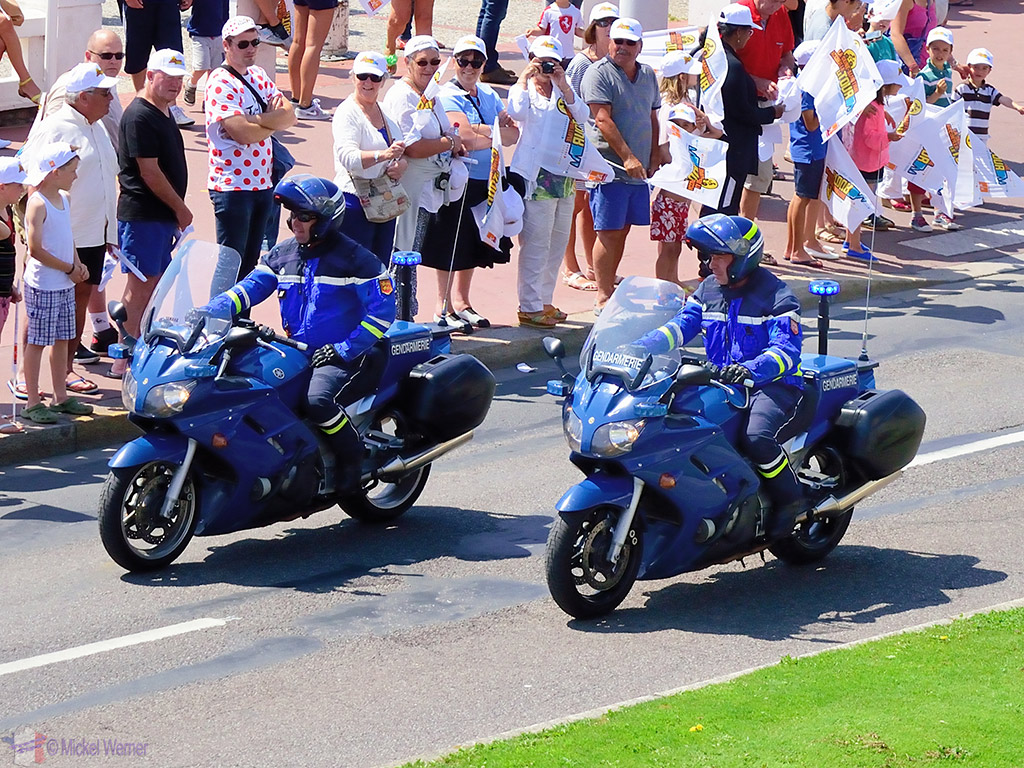 Motorcycle gendarmes at the Tour de France
