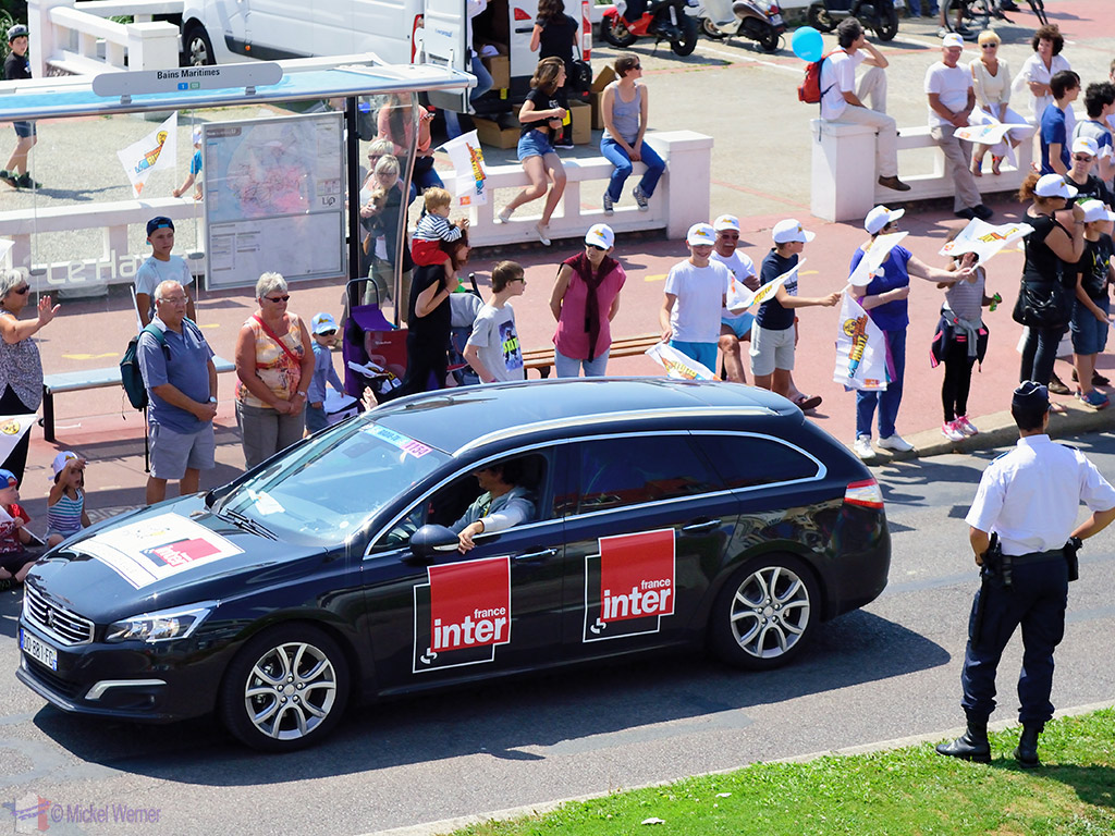 France Inter radio car at the Tour de France