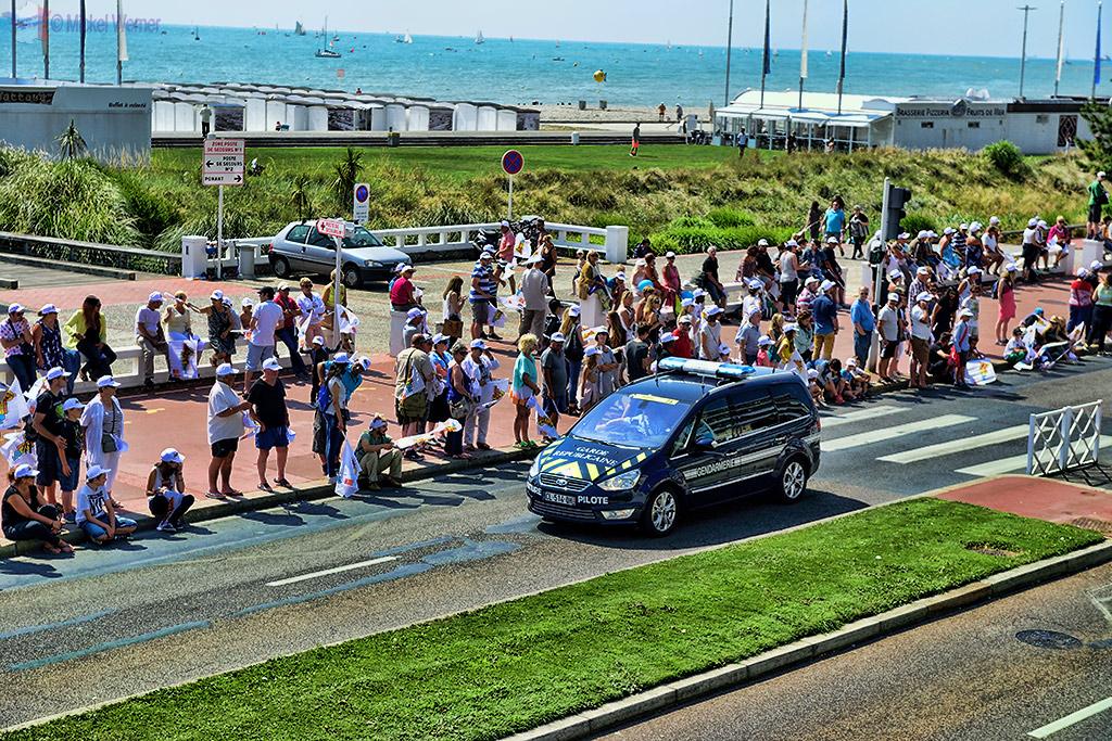 The Garde Republicaine car of the Gendarmes at the Tour de France