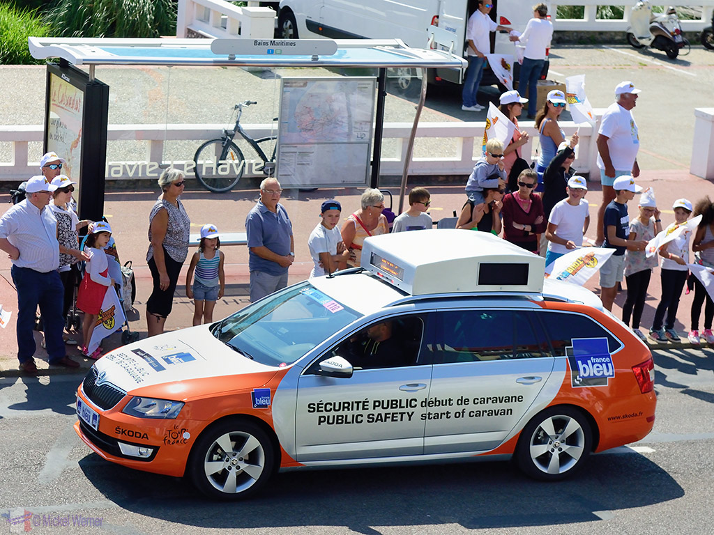 Public Safety Car at the Tour de France