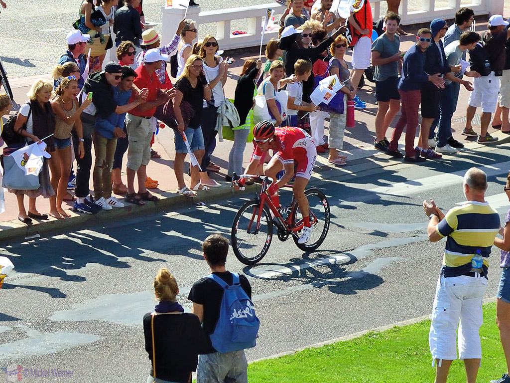 The first, breakaway, cyclist of the Tour de France