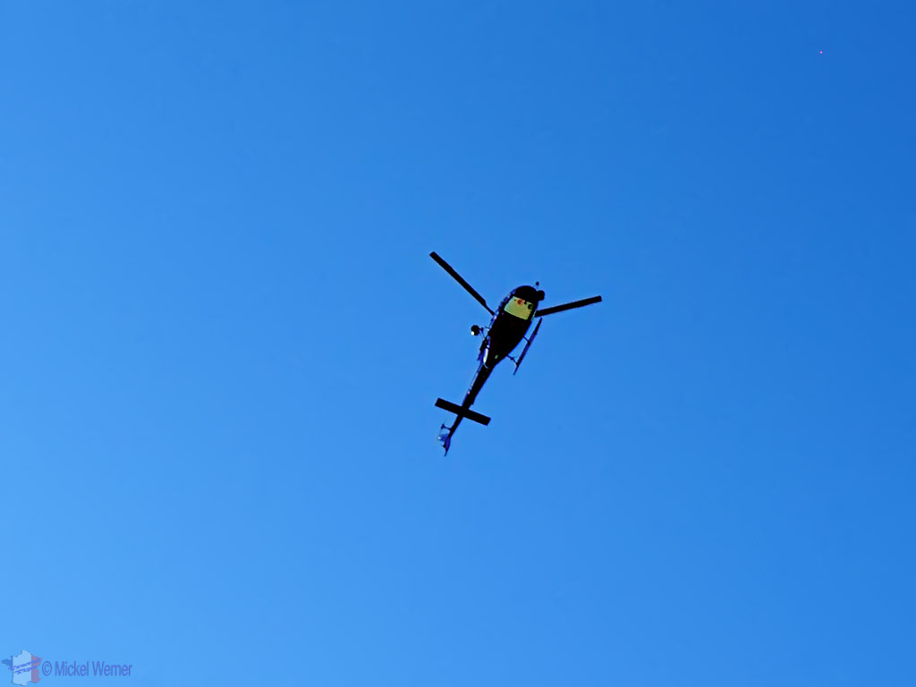 TV helicopter at the Tour de France