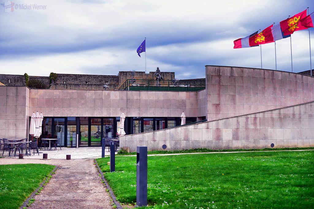 Museum of Fine Arts inside the Caen castle grounds