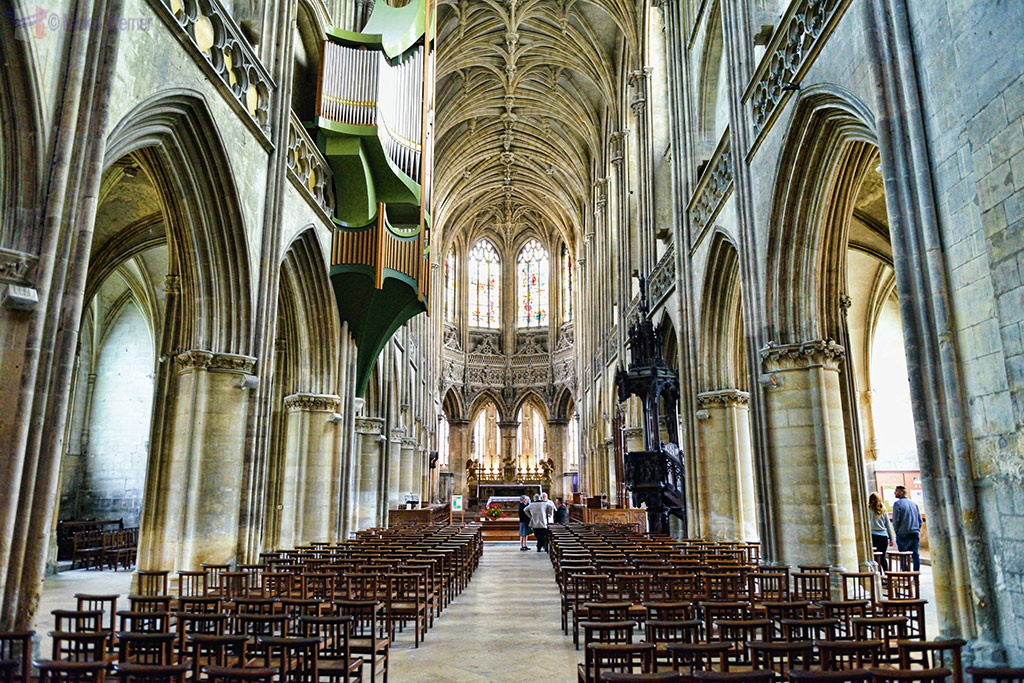 Inside the Saint-Pierre Church of Caen