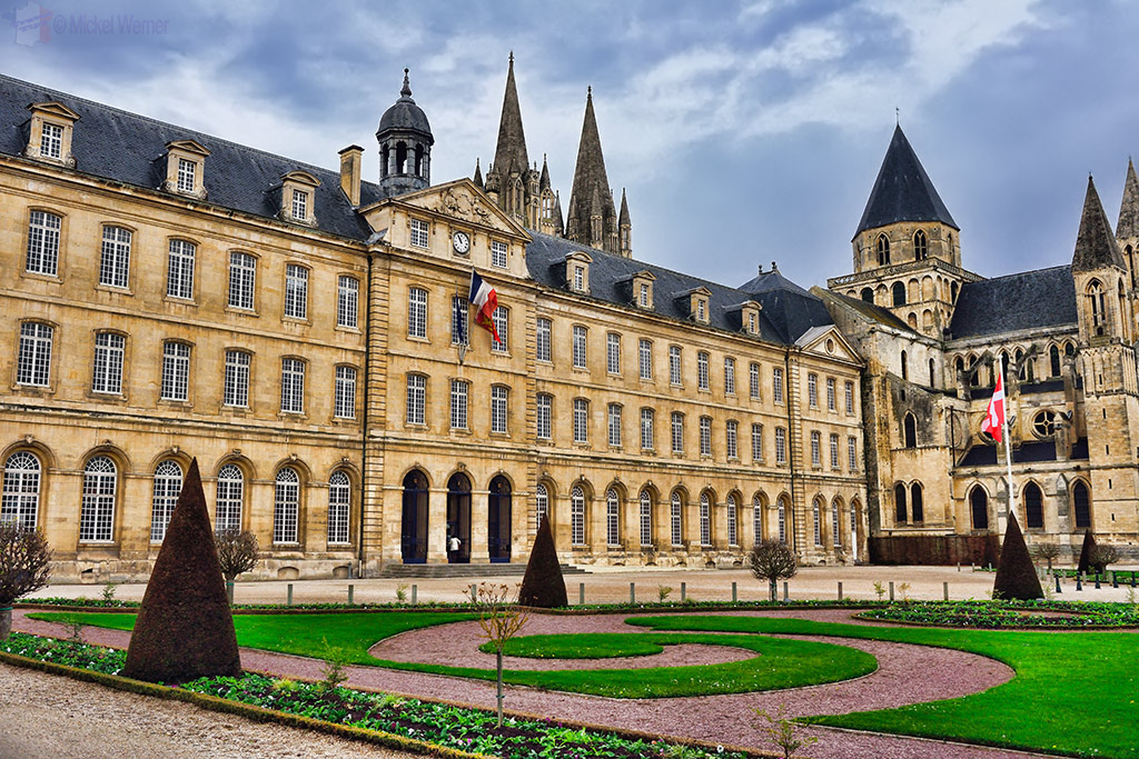 City Hall and the Abbaye aux Hommes in Caen