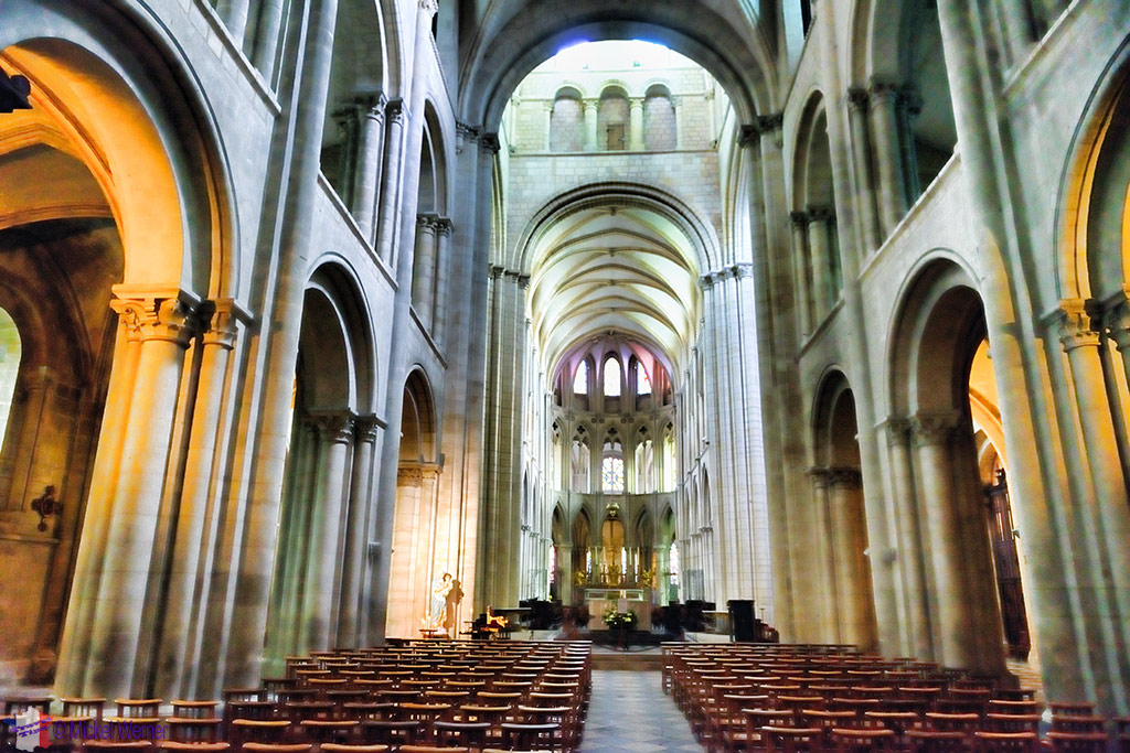 Inside the Abbaye aux Hommes in Caen