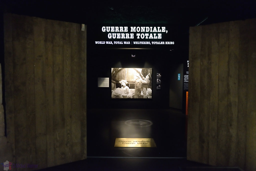 The displays of the Caen WWII Memorial