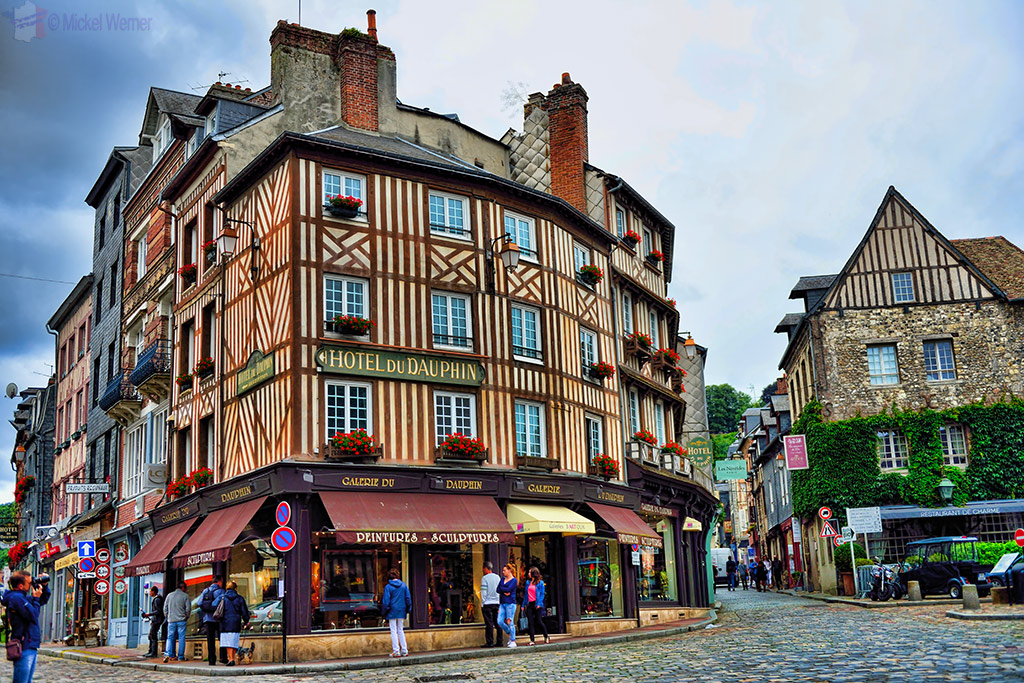 Old houses and shops of Honfleur