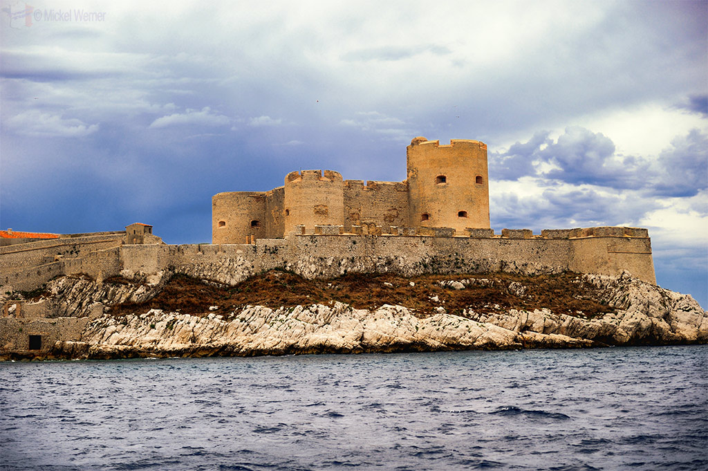 Chateau d'If on an island close to Marseilles