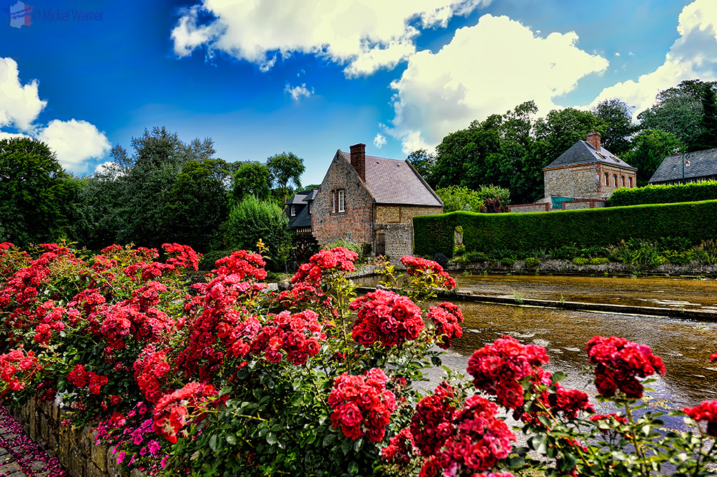 Watermill on the watercress fields of Veules-Les-Roses.