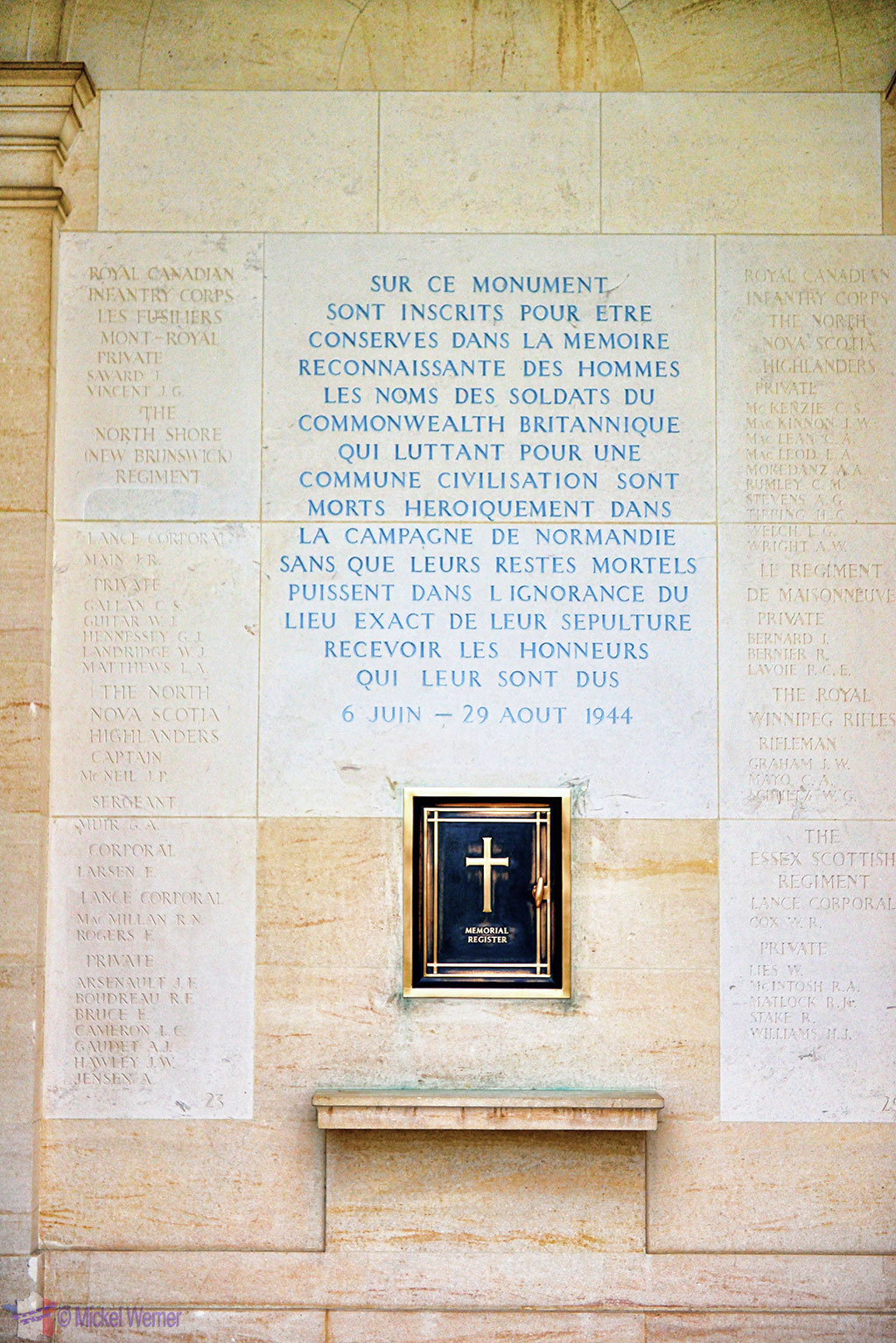 British War Cemetery of Bayeux Memorial