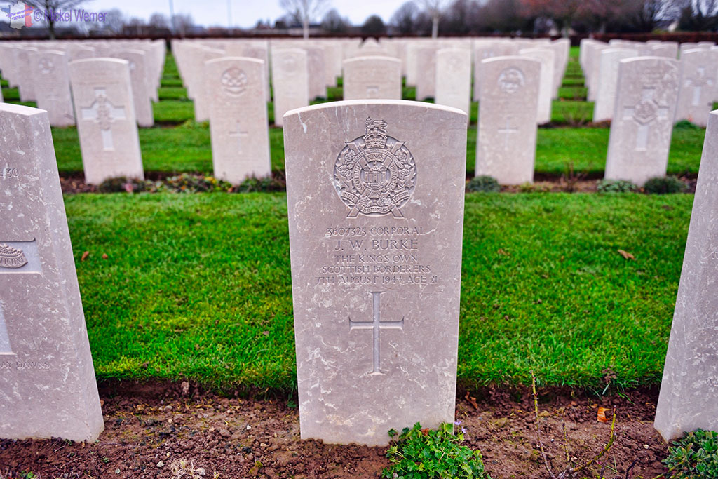 Graves at the British War Cemetery of Bayeux
