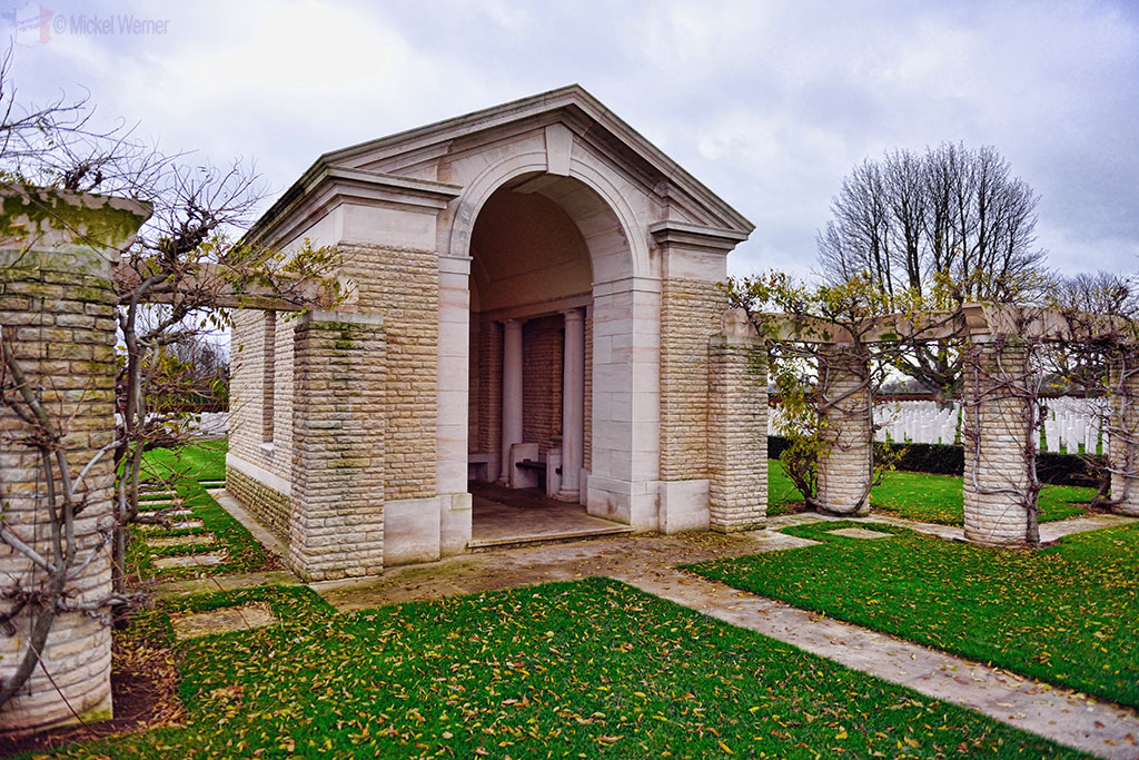 Mausoleum at the British War Cemetery of Bayeux