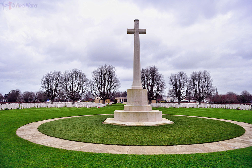 Cross of Sacrifice at the British War Cemetery of Bayeux