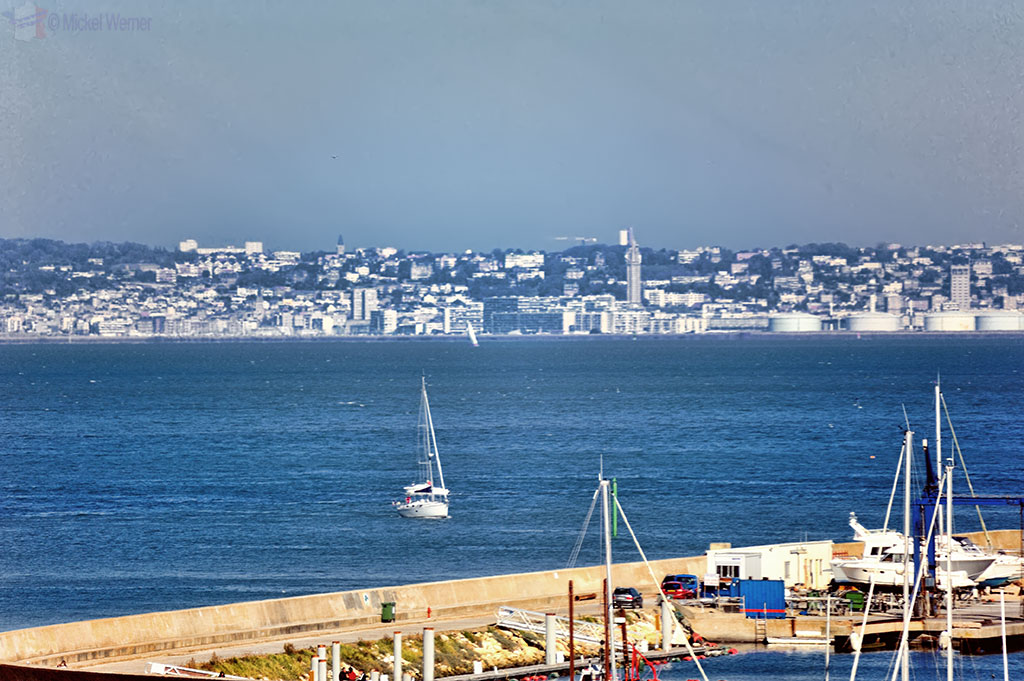 View on Le Havre from Deauville