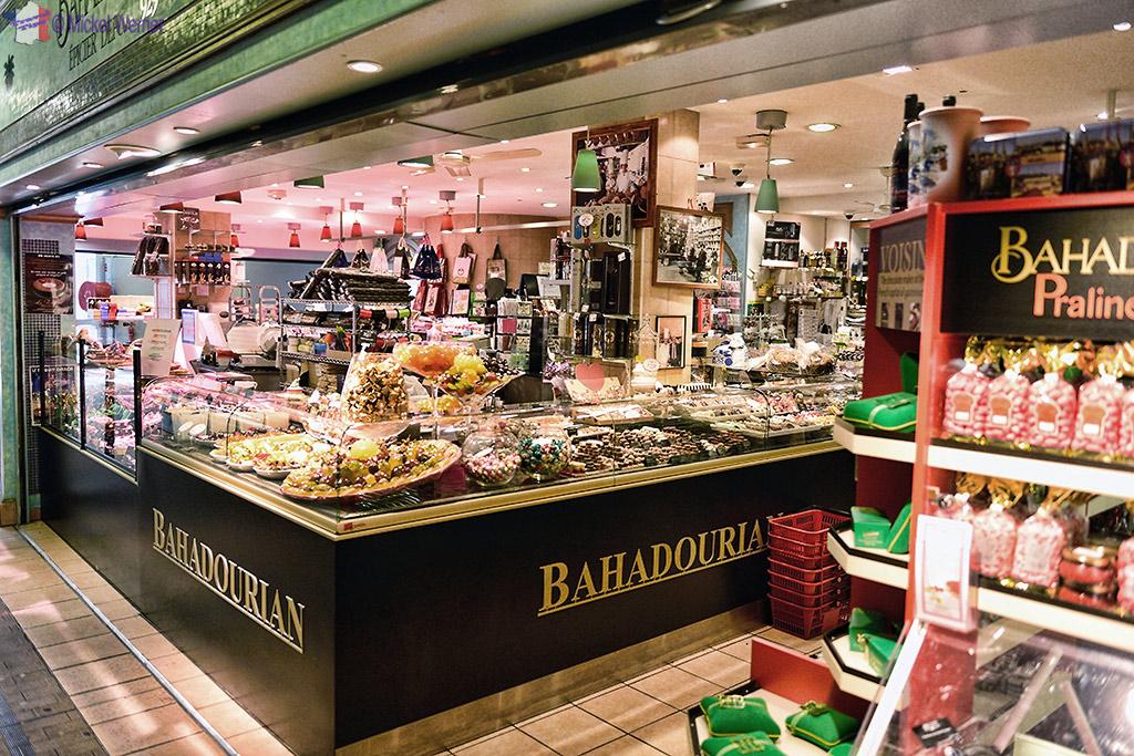 """Food inside the food market called """"Les Halles De Lyon Paul Bocuse"""""""