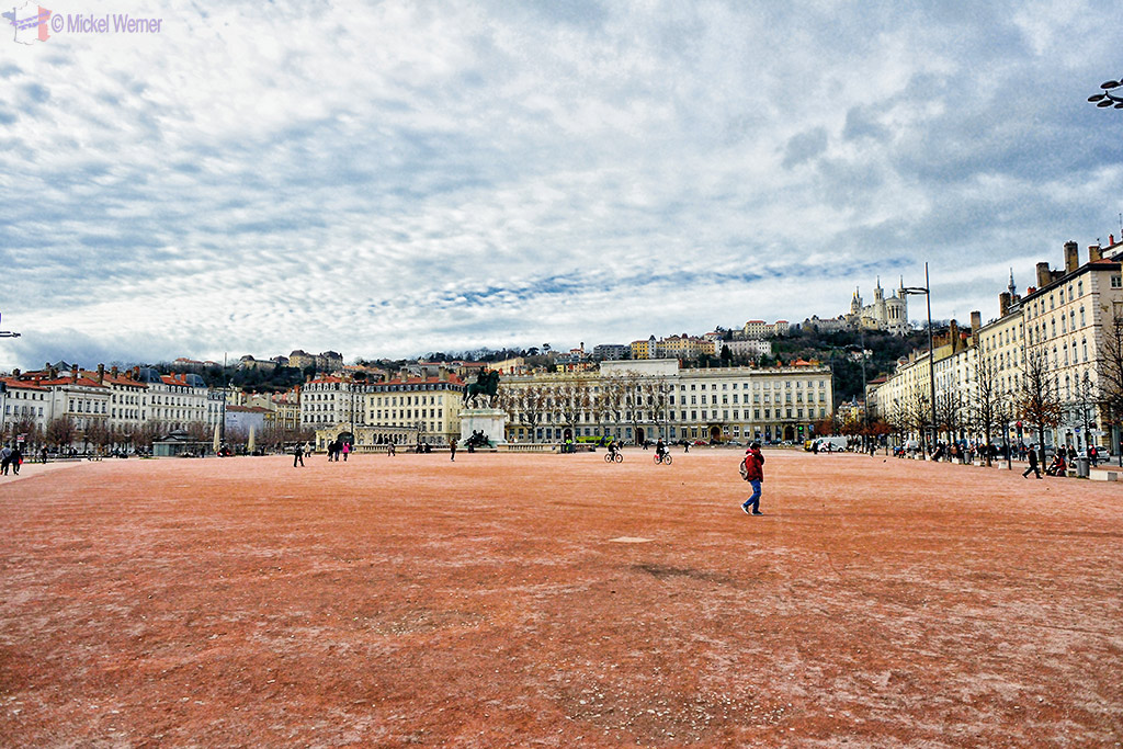 La Place Bellecour square of Lyon