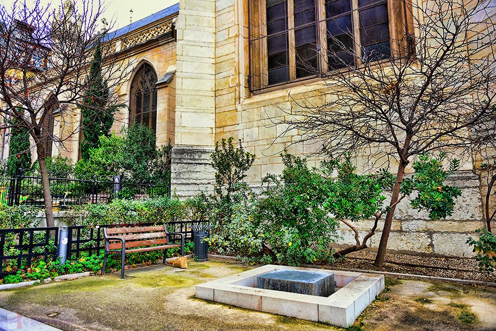 Outside the Saint George church of Lyon