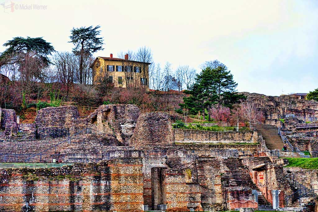 Main Roman theatre on the Fourviere hill of Lyon