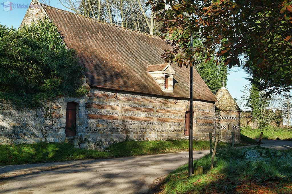 Outbuildings at the Auberville Castle at Auberville-La-Manuel