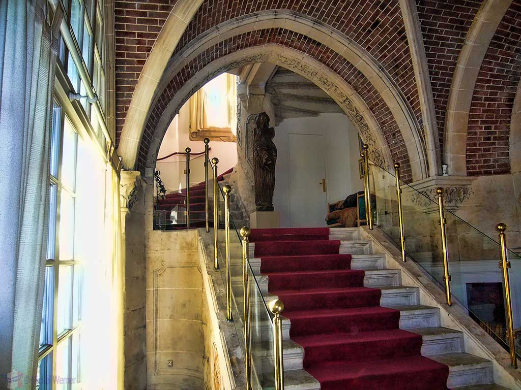 Main stairways of the Chateau des Gadelles of Le Havre