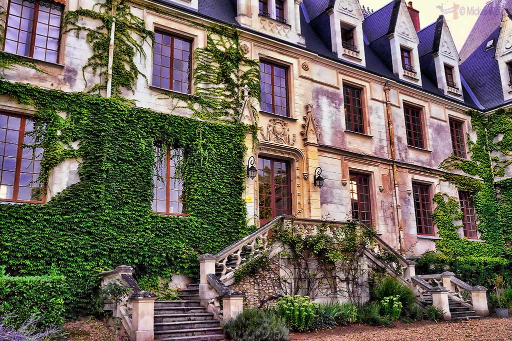 Entrance of the Castle Reignac at Reignac-sur-Indre in the Loire Valley