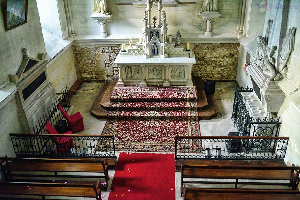 Private chapel of Castle Reignac at Reignac-sur-Indre in the Loire Valley