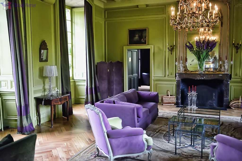 Sitting room of Castle Reignac at Reignac-sur-Indre in the Loire Valley