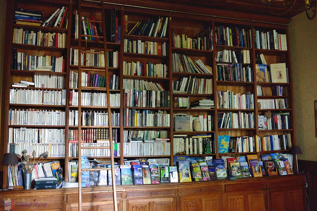Library of Castle Reignac at Reignac-sur-Indre in the Loire Valley