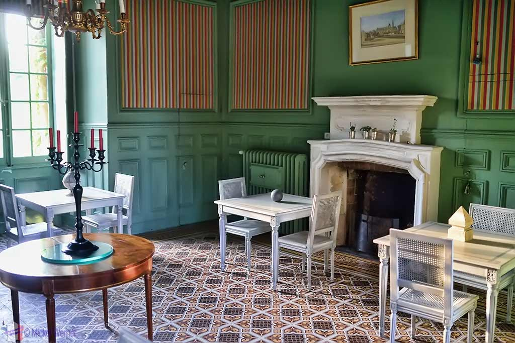 Breakfast room of Castle Reignac at Reignac-sur-Indre in the Loire Valley