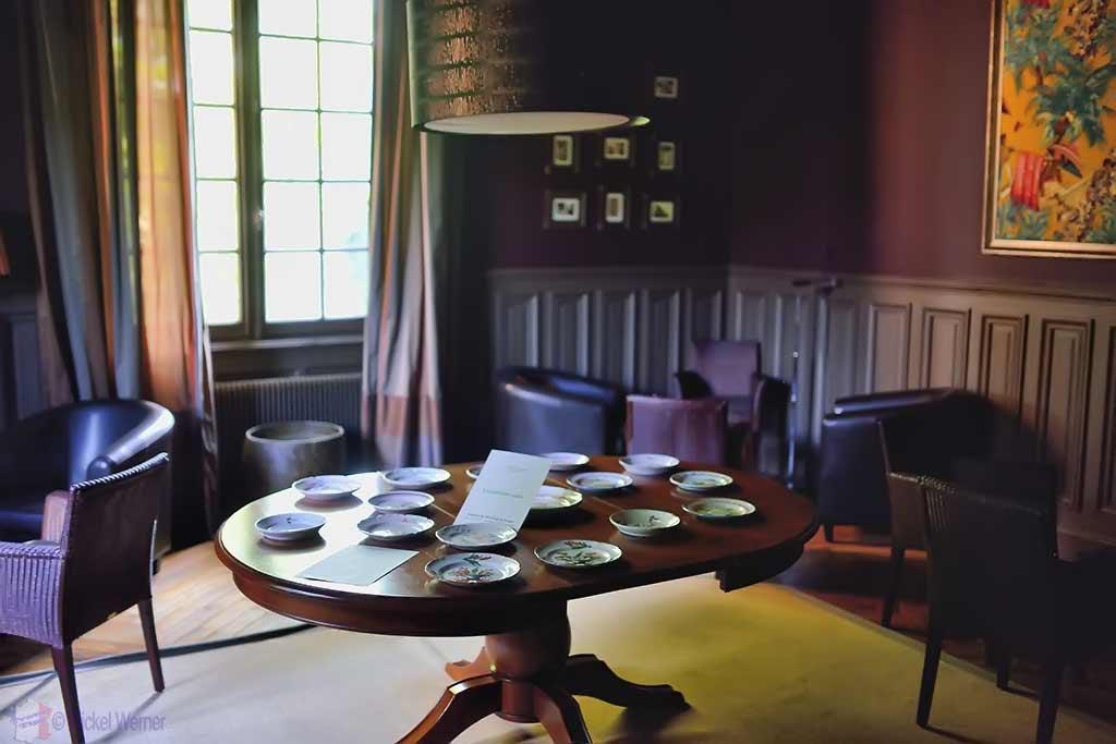 Tea room of Castle Reignac at Reignac-sur-Indre in the Loire Valley